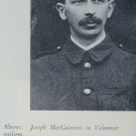 Joseph MacGuinness in Volunteer uniform