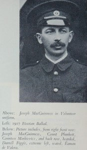 Joseph MacGuinness in Volunteer uniform
