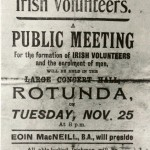Irish Volunteers public meeting poster