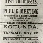 Irish Volunteers public meeting poster
