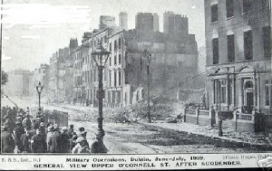 O'Connell Street, Dublin after the surrender