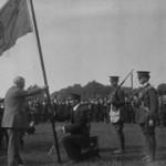 Redmond presents flag to Irish Volunteers- pre split