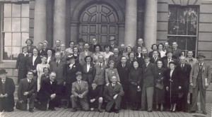 Annual Reunion (1952) of C Coy 1st batt (old IRA) possible taken at the Customs House Dublin