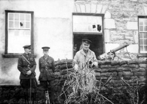 Two British officers surnamed Lawson and Adams with Brigadier General H. R. Cumming in Kenmare County Kerry shortly before their deaths at the hands of the IRA in 1921
