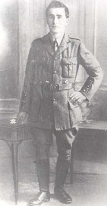Donnchadh MacNeilus in his uniform as a Volunteer Officer. He was daringly rescued from Cork Jail by his comrades in the Cork Brigade on Armistice Day 1918.
