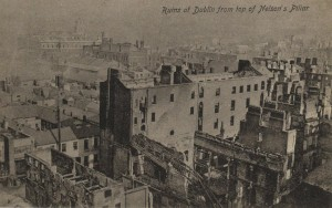 This Photograph show the devastation after the British bombardment of Dublin City during 1916 Easter Rising.