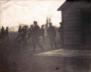 Here is a very rare photograph which was given to me. It shows IRA men training just before the Easter Rising