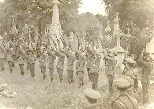 Firing party at Joseph McGuinness funeral in Glasnevin Cemetery 2nd June 1922