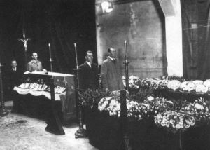 Larkin lying in state