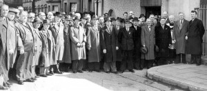 James (holding gloves) & Mark Wickham (James' left) in group photo of 1916 veterans. Cork, Easter 1966