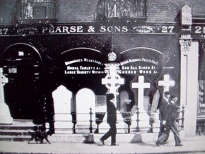 The Pearse family home and monumental workshop back in the day.