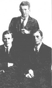 A small photo of Squad men Charlie Dalton (left) Tom Kehoe and Ben Byrne. (rare)