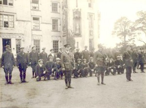 I.R.A. training camp at Duckett's Grove during the 1920's. (L to R) unknown; Liam Stack, OC Carlow Brigade; James Byrne, Adjutant Carlow Brigade.