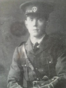 IRA Volunteer Thomas J Ringrose, Meelick Company East Clare Brigade IRA who participated in the Cratloe Ambush. He was later captured by the British forces and interned on Spike Island, Cork.
