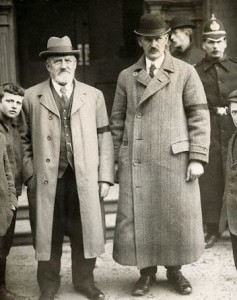 William Kells (right), brother of Detective Harry Kells who was shot dead in Camden St during the WOI