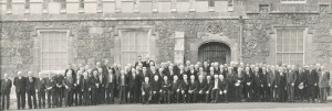 East Clare BrigadeThis black and white photograph was taken at a reunion of the East Clare Brigade of the Old IRA, at Knappogue Castle on May 8th, 1968. During the War of Independence Clare County Council held their meetings at Knappogue Castle where they were guarded by the East Clare Flying Column. Michael Brennan, General of the East Clare Brigade also used the castle as his headquarters during that time.