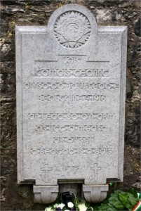 This is a photo of Thomas Kent's head stone