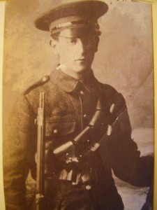 Gerald Keogh, shot at College Green by a sniper in Trinity College 1916. I have a great story on this young Volunteer. He was delivering dispatches at the time he was shot.