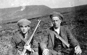 Mick Morrissey holding the rifle in Waterford. I believe he later went on to become a T.D.