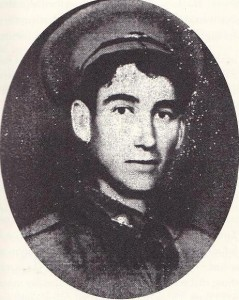 Private M.McHugh, one of the Australian soldiers who defended Trinity College