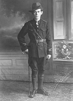 Seamus Quirke as a Lt. in the Fianna Eireann. Killed in action by British Auxiliaries in Galway, Sept. 9, 1920. H Co., 2nd Battalion, 1st Cork Brigade.