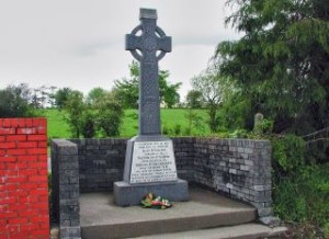 Memorial at Upton station to the three West Cork Brigade Volunteers who lost their lives during a foiled IRA ambush in February 1921