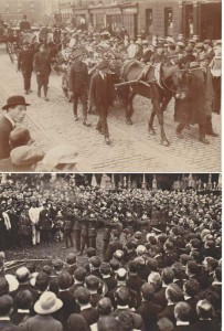 Funeral of Thomas Ashe. The Leader of the firing party in the bottom photo is Liam Clarke. Liam's tunic and Cap, sported in this photo is the one I posted in the Cathal Brugha Museum album earlier.