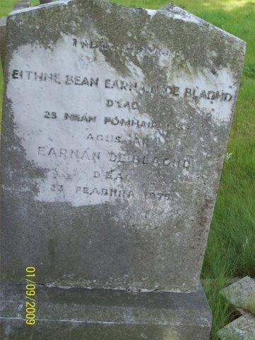 The grave of Ernest Blythe, Glasnevin, Dublin
