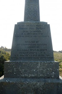Martin Devitt - Vice Commandant Mid Clare Brigade memorial. Crowe's Bridge, Inagh, Co Clare.