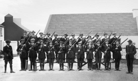 4th Battalion on parade. Mid-Clare Brigade Training Camp Kilfenora