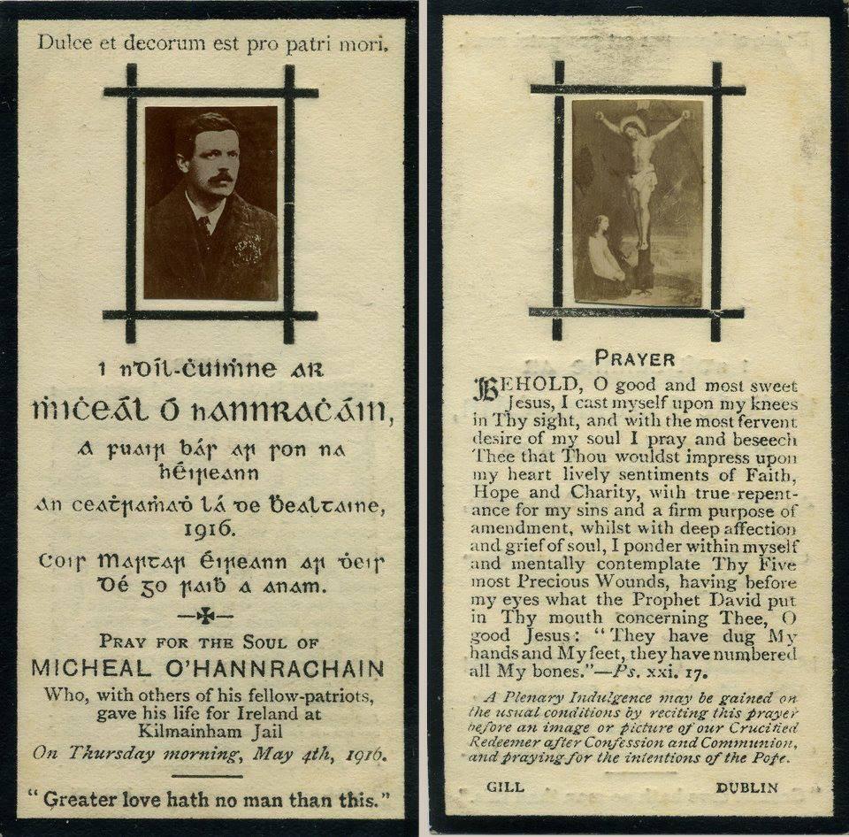 Michael O'Hannrachain 1916