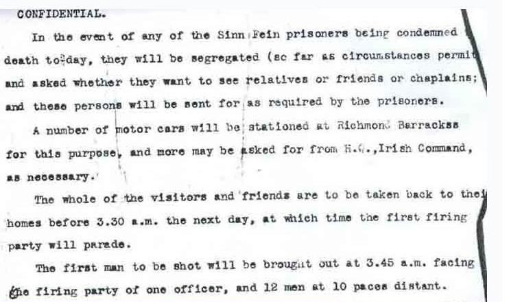 Protocol for Executions 1916