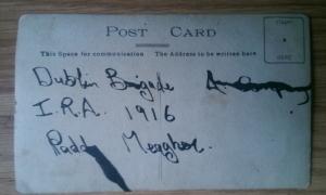 paddy meagher Dublin Brigade IRA 1916 postcard
