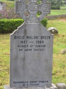 Brigid Malone Breen headstone