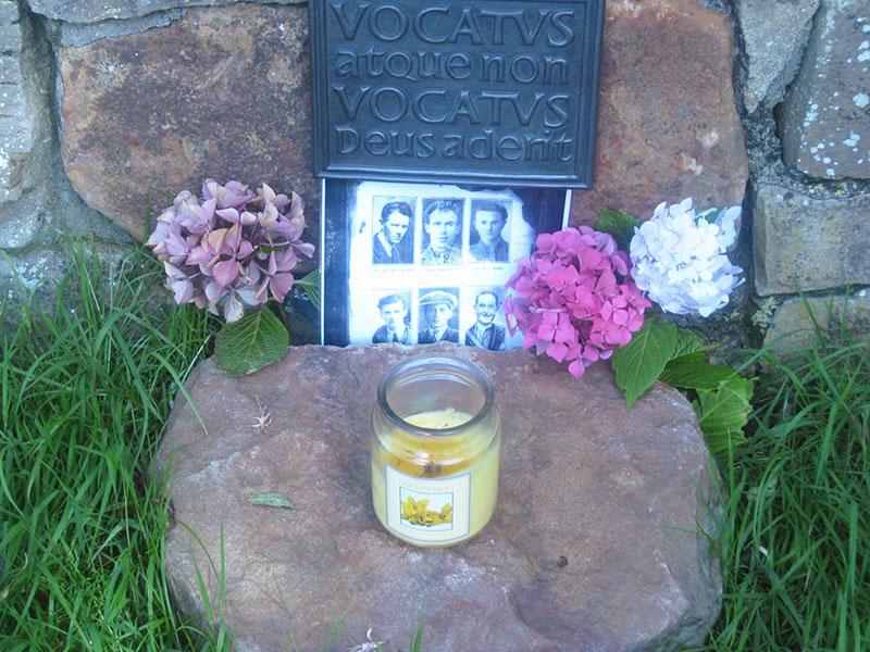 A roadside tribute below Ben Bulben to Sligo's Noble Six
