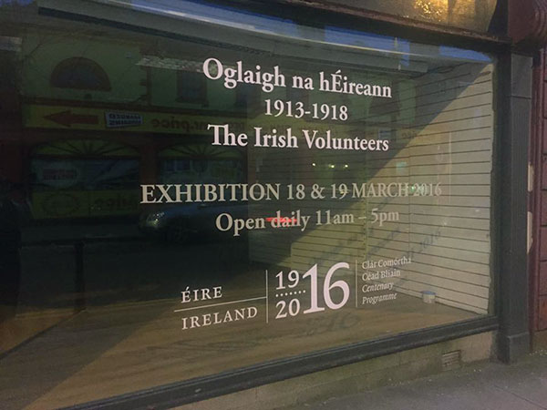 Tullamore Co. Offaly March 18-19, 2016 Exhibition