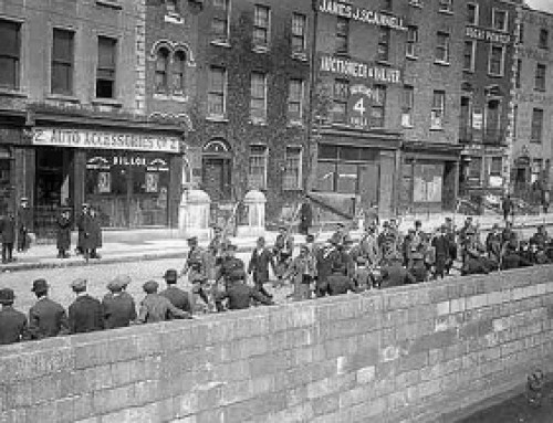 Irish Volunteers being marched off to Richmond Barracks 1916